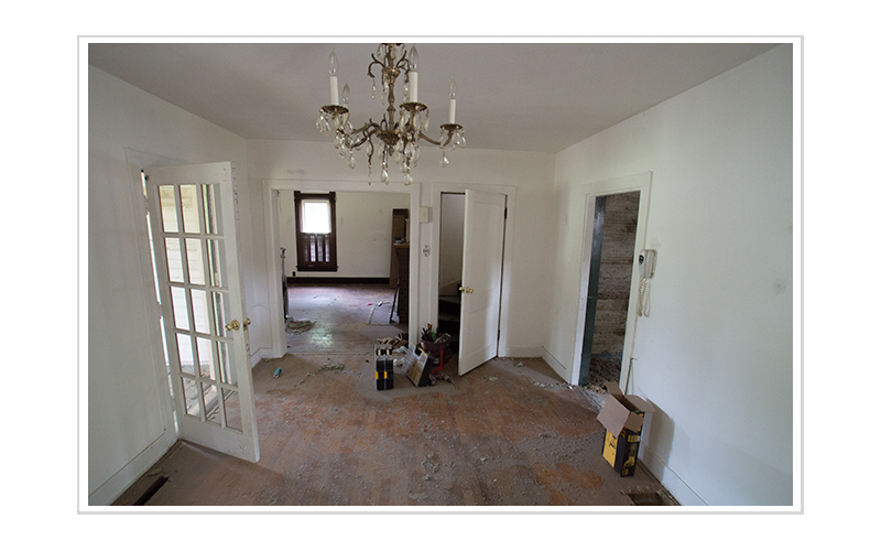 VIEW TO THE PARLOR FROM THE EXISTING DINING ROOM