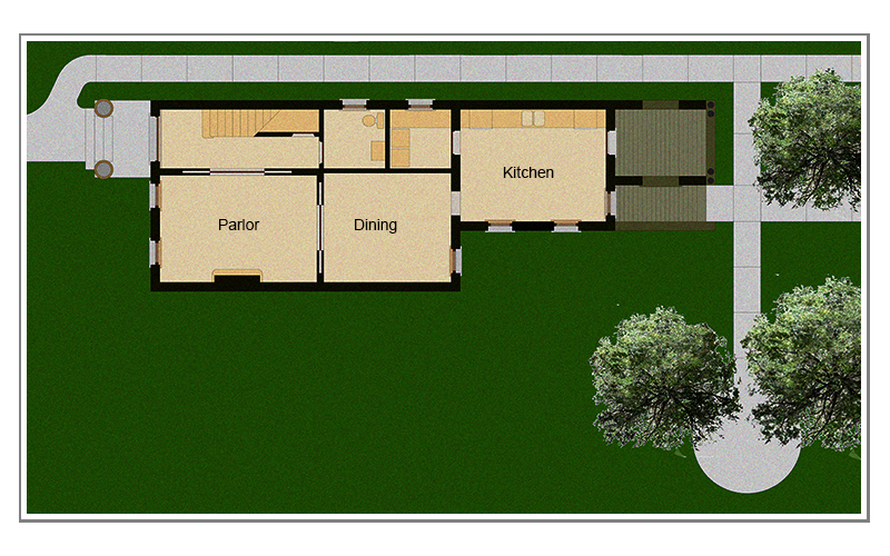 WICKER PARK. 2137 West Schiller Street.  First Floor Plan